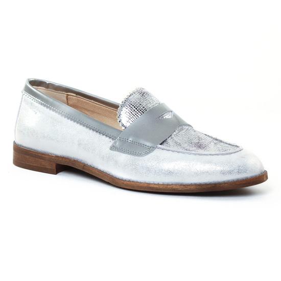 Mocassins Dorking Raquel 6897 Argent, vue principale de la chaussure femme