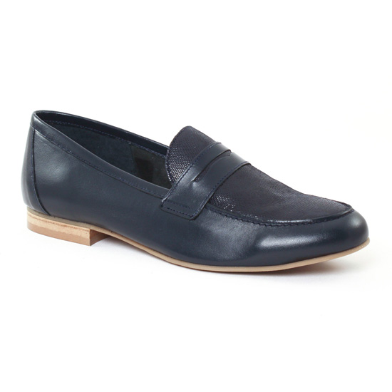 Mocassins Scarlatine 9488 Marine, vue principale de la chaussure femme