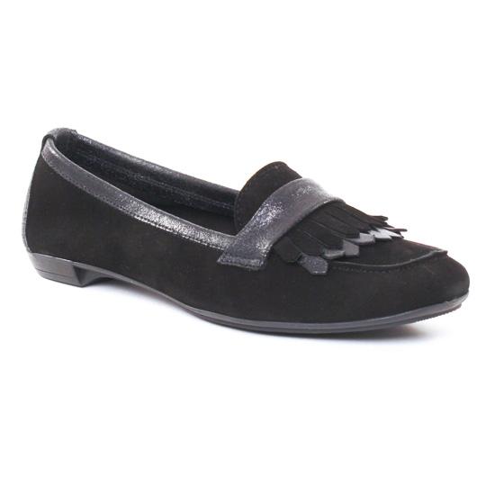 Mocassins Scarlatine 7540 Lama Noir, vue principale de la chaussure femme