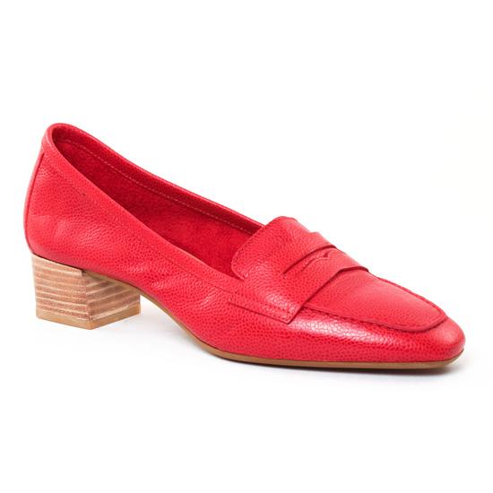 Mocassins Perlato 9691 Rouge, vue principale de la chaussure femme