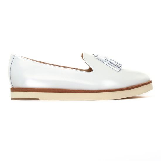Jb Martin 1Darleen Blanc | Mocassin Slippers blanc printemps
