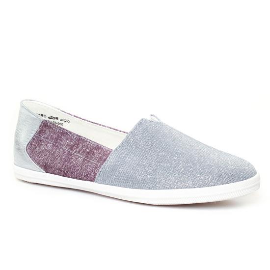 Mocassins Tamaris 24600 Silver, vue principale de la chaussure femme