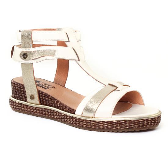 Nu Pieds Et Sandales Mamzelle Suzane Ecru, vue principale de la chaussure femme