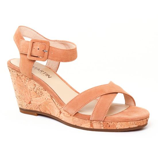 Nu Pieds Et Sandales Jb Martin Querida Fauve, vue principale de la chaussure femme