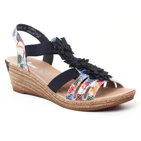 Nu Pieds Et Sandales Rieker 62461 Ice, vue principale de la chaussure femme