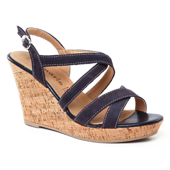 Nu Pieds Et Sandales Tamaris 28343 Navy, vue principale de la chaussure femme