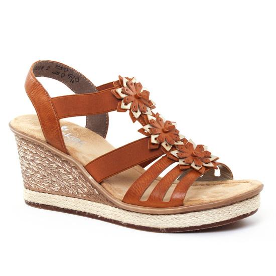 Nu Pieds Et Sandales Rieker 67510 Cayenne, vue principale de la chaussure femme