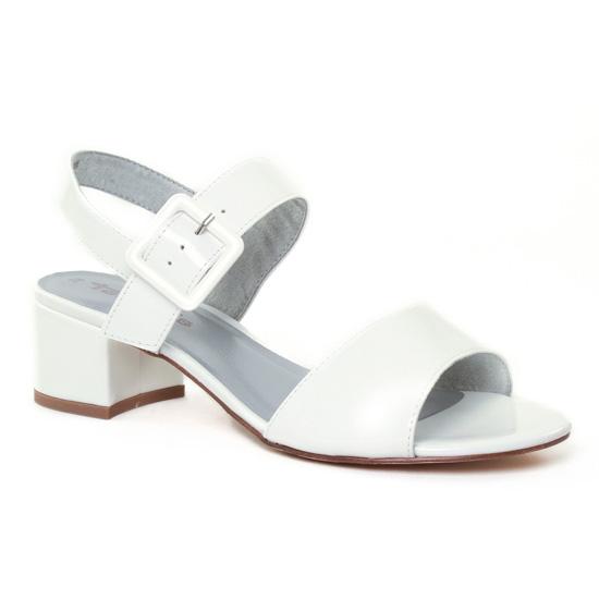 Nu Pieds Et Sandales Tamaris 28211 White, vue principale de la chaussure femme