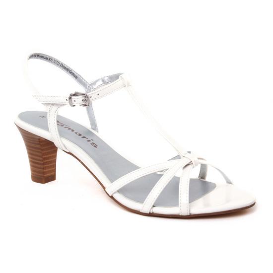 Nu Pieds Et Sandales Tamaris 28329 White, vue principale de la chaussure femme