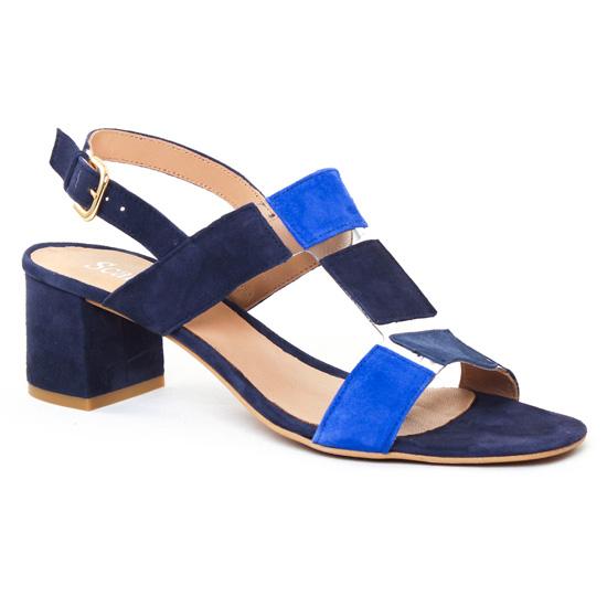 acheter populaire 63457 63d11 Scarlatine 44517 Bleu Electrique   nu-pied talon bleu marine ...