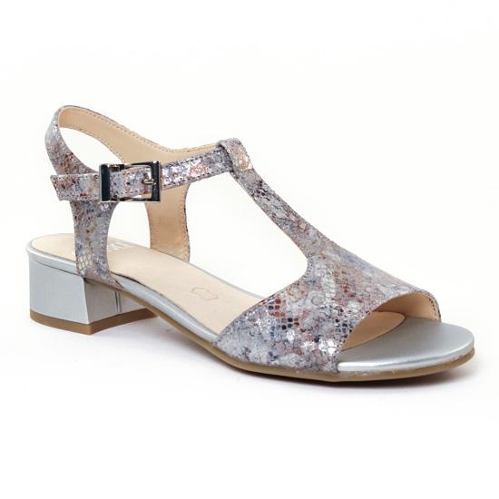 Nu Pieds Et Sandales Caprice 28205 Grey, vue principale de la chaussure  femme 1a163758e5f4