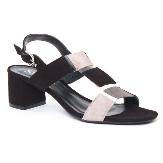 Nu Pieds Et Sandales Scarlatine 44517 Noir Gris, vue principale de la chaussure femme