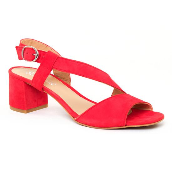 Nu Pieds Et Sandales Scarlatine 44501 Rouge, vue principale de la chaussure femme