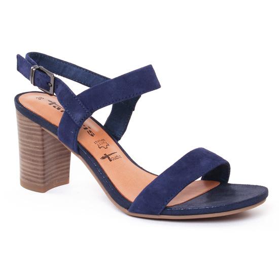Nu Pieds Et Sandales Tamaris 28321 Blue, vue principale de la chaussure femme