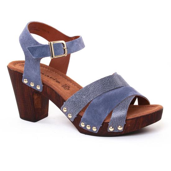 Nu Pieds Et Sandales Tamaris 28356 Denim, vue principale de la chaussure femme