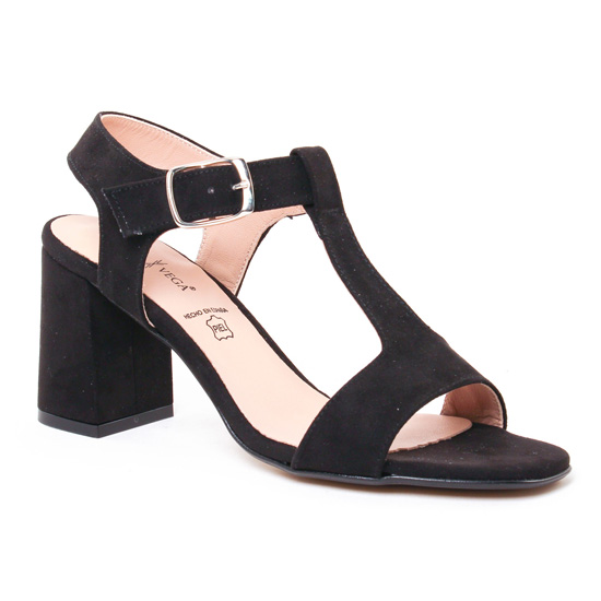Nu Pieds Et Sandales Daniela Vega 1151 Noir, vue principale de la chaussure femme