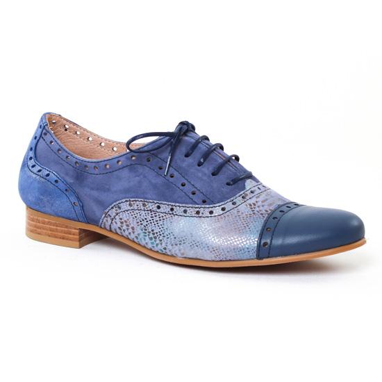 Chaussures À Lacets Pintodiblu PintoDiBlu 30311 Bleu, vue principale de la chaussure femme