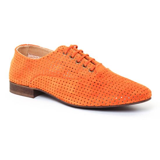 Chaussures À Lacets Axell Terry Orange, vue principale de la chaussure femme