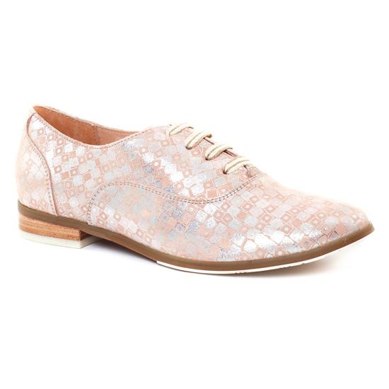 Chaussures À Lacets Fugitive Hevea Peche, vue principale de la chaussure femme