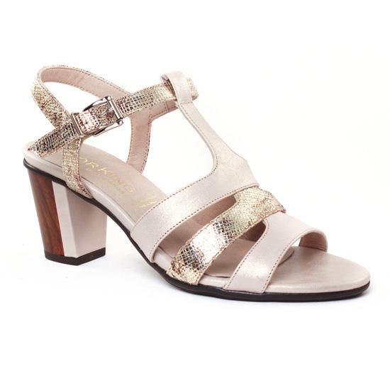 Nu Pieds Et Sandales Dorking Klaus 7114 Naturel, vue principale de la chaussure femme