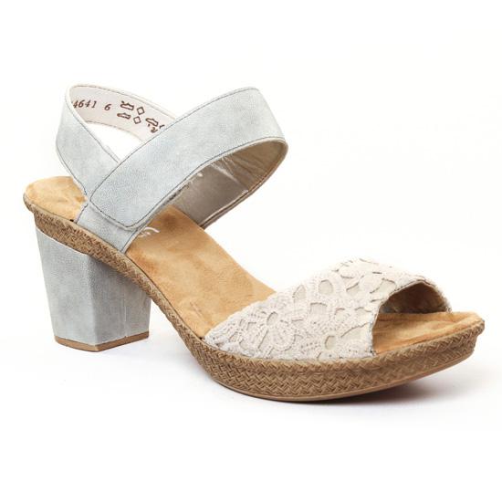 Nu Pieds Et Sandales Rieker 66651 Beige, vue principale de la chaussure femme