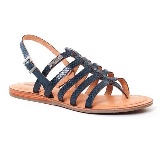 Nu Pieds Et Sandales Les Tropeziennes Heripo Navy Serpent, vue principale de la chaussure femme