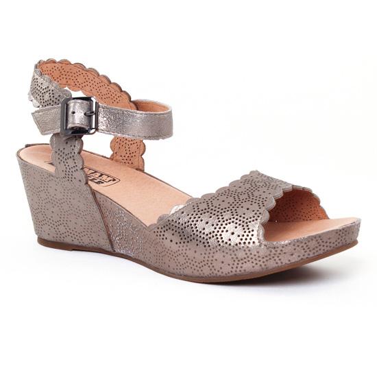 Nu Pieds Et Sandales Mamzelle Douga Etain, vue principale de la chaussure femme
