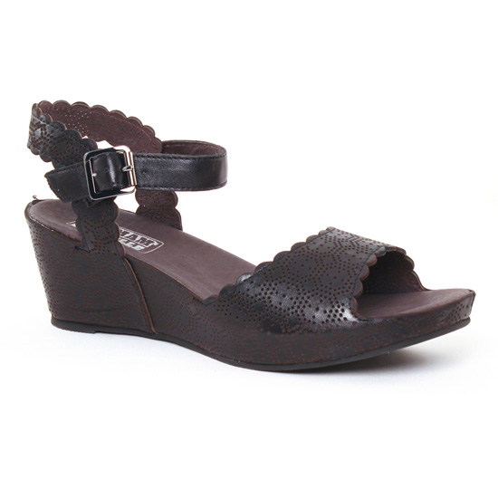 Nu Pieds Et Sandales Mamzelle Douga Noir, vue principale de la chaussure femme