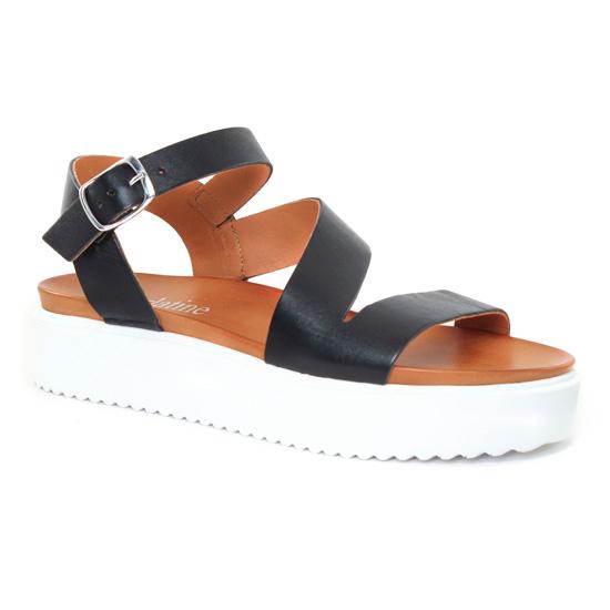 Nu Pieds Et Sandales Scarlatine 44486 Noir, vue principale de la chaussure femme