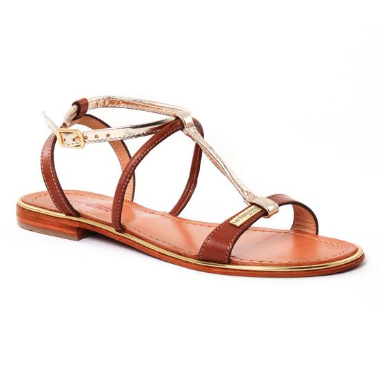 Nu Pieds Et Sandales Les Tropeziennes Haquina Tan Or, vue principale de la chaussure femme