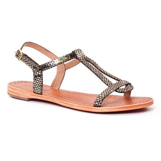 Nu Pieds Et Sandales Les Tropeziennes Hamat Or Noir, vue principale de la chaussure femme