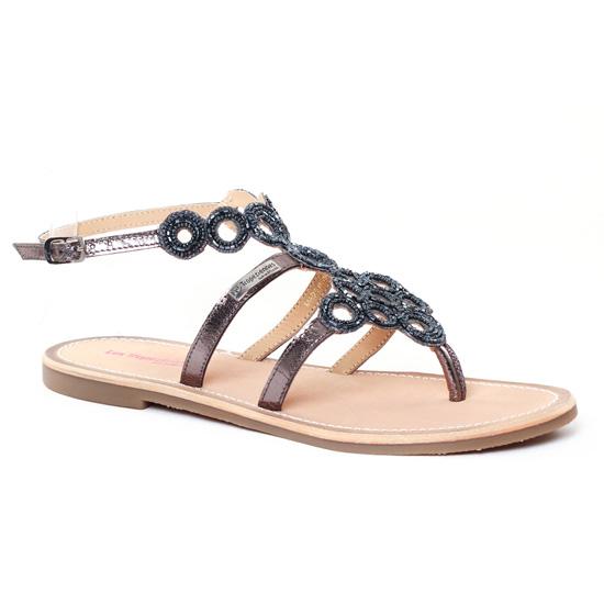 Nu Pieds Et Sandales Les Tropeziennes Ofelie Etain, vue principale de la chaussure femme