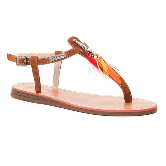 Nu Pieds Et Sandales Les Tropeziennes Galatee Tan, vue principale de la chaussure femme