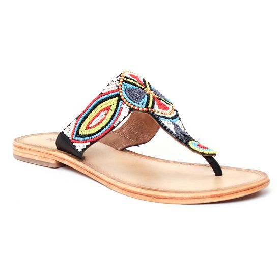 Nu Pieds Et Sandales Les Tropeziennes Melody Blanc Multi, vue principale de la chaussure femme