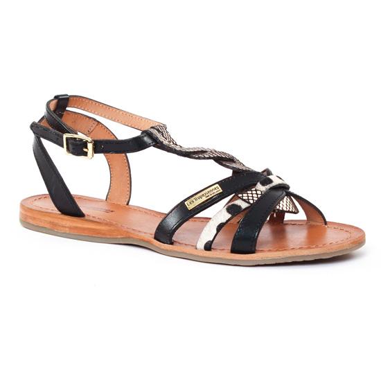 Nu Pieds Et Sandales Les Tropeziennes Hams Noir Or, vue principale de la chaussure femme