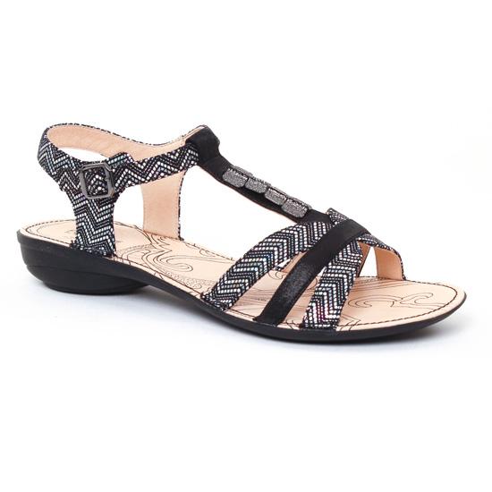 Nu Pieds Et Sandales Fugitive Asso Noir Galice Noir, vue principale de la chaussure femme