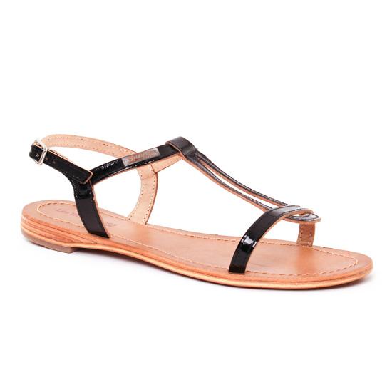 Nu Pieds Et Sandales Les Tropeziennes Hamess Vernis Noir, vue principale de la chaussure femme