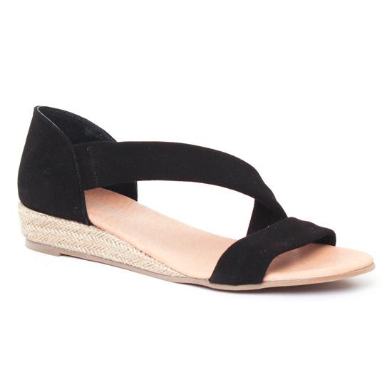 Espadrilles Scarlatine 44407 Noir, vue principale de la chaussure femme