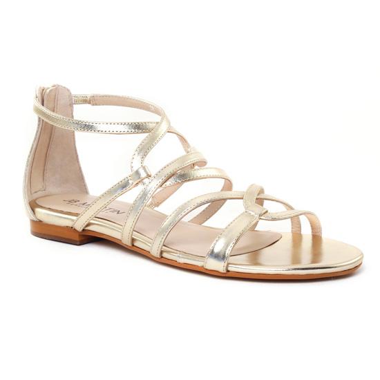 Nu Pieds Et Sandales Jb Martin 1Anora Or Argent, vue principale de la chaussure femme