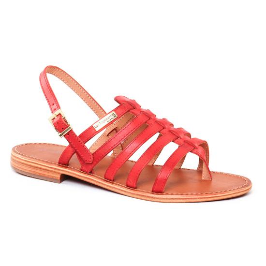 Nu Pieds Et Sandales Les Tropeziennes Heriber Rouge, vue principale de la chaussure femme