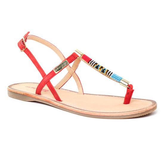 Nu Pieds Et Sandales Les Tropeziennes Odelia Rouge, vue principale de la chaussure femme