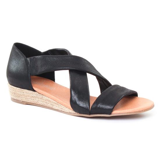 Espadrilles Scarlatine 44281 Noir, vue principale de la chaussure femme