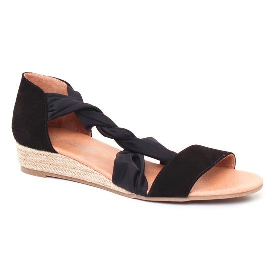 Espadrilles Scarlatine 44294 Noir Galice Noir, vue principale de la chaussure femme