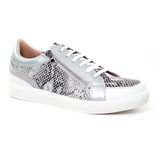 Tennis Et Baskets Mode Fugitive Meirol Python Noir Multi, vue principale de la chaussure femme