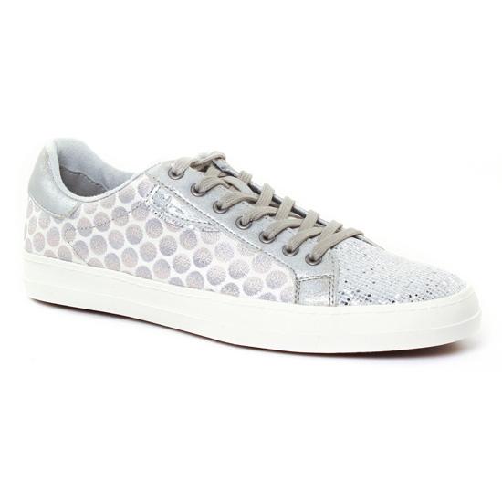 Tennis Et Baskets Mode Tamaris 23666 White Silver, vue principale de la chaussure femme