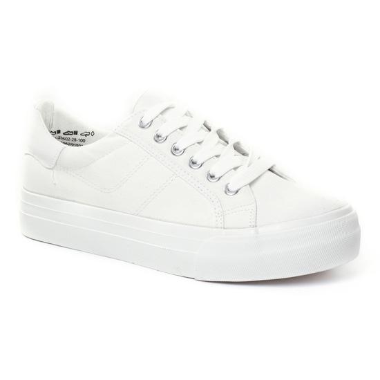 Tennis Et Baskets Mode Tamaris 23602 White, vue principale de la chaussure femme