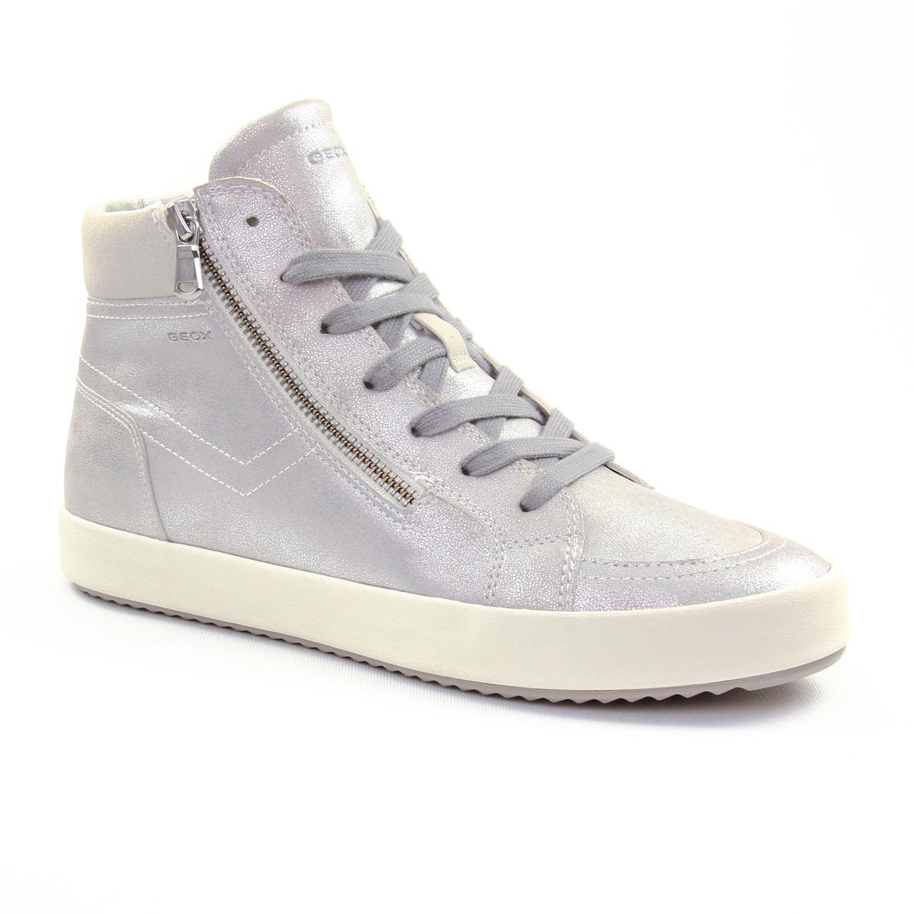 Geox D826Ha Off White | basket mode gris argent printemps