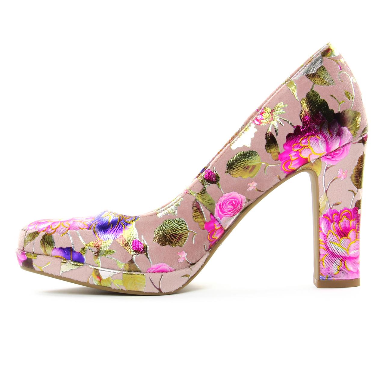 Tamaris 22431 Rose Flower   escarpins rose multi printemps