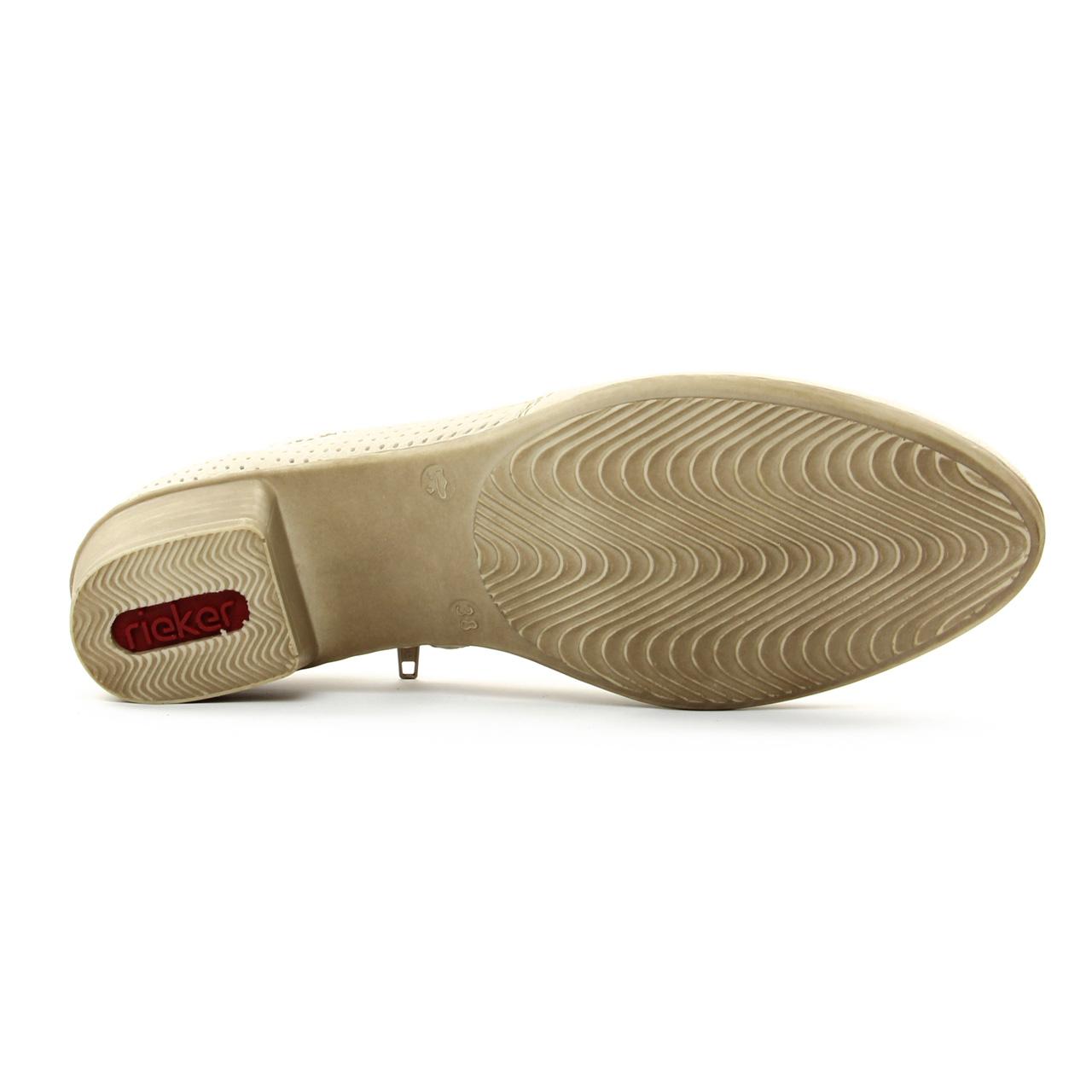 Rieker M0757 Off White | low boots beige clair printemps été