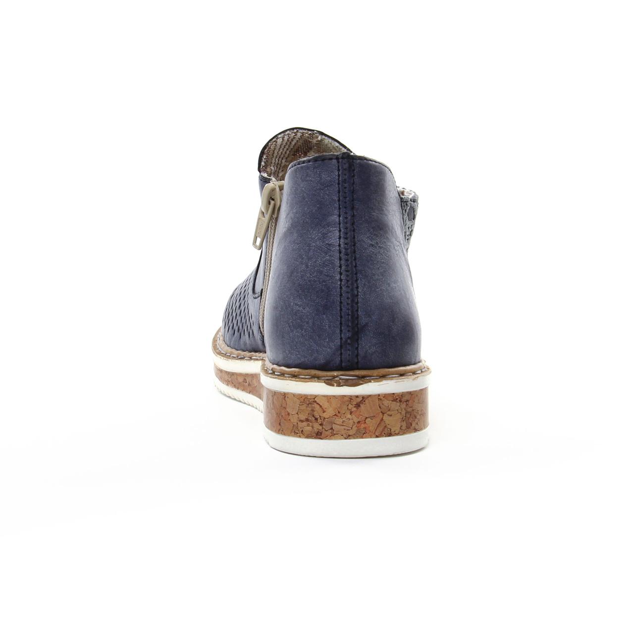 Été N0356 Rieker Boots Bleu Printemps Trois JeansLow Marine Chez c3A4j5RLq